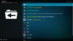 Replay Me Kodi Addon Main Menu