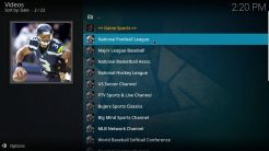 Sportz Kodi Addon Game Sports Section