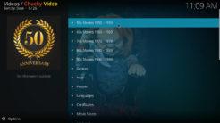 Chucky Video Kodi Addon Movies Section