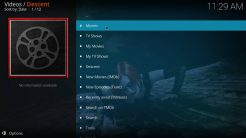 Descent Kodi Addon Main Menu