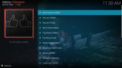 Descent Kodi Addon TV Shows Section