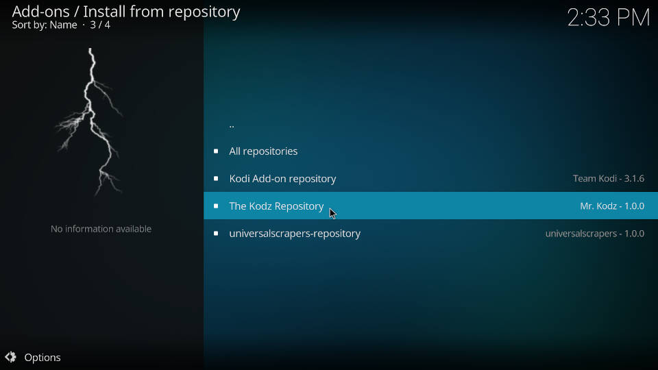 How to install Kodi addons - Step 2