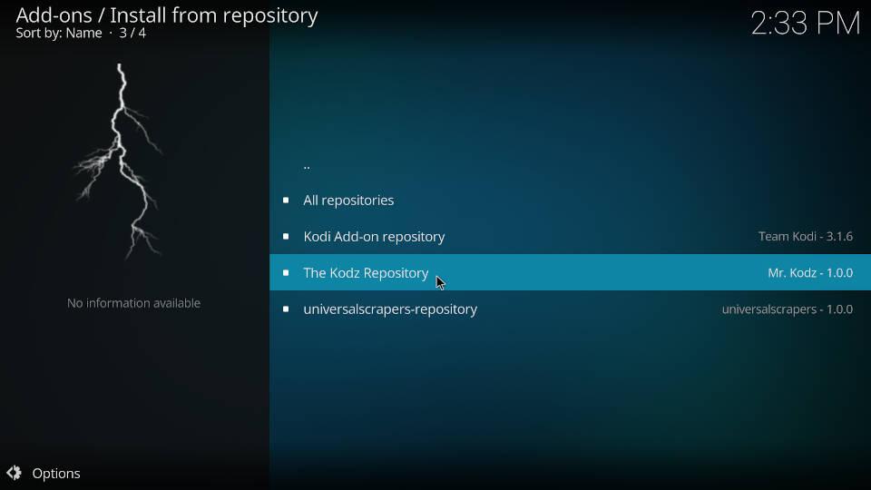 How to install Kodi addons - Step 2