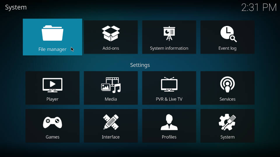 How to add a source in Kodi file manager - Step 2