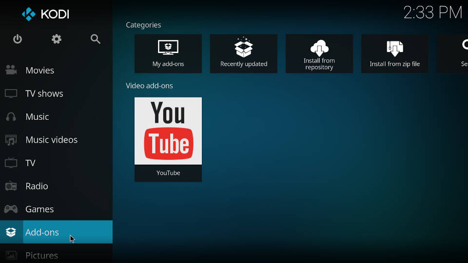 How to install a Kodi repository - Step 1