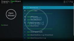 Open Wizard Kodi Addon Main Menu