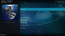 Uranus Kodi Addon Movies Section