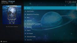 Uranus Kodi Addon Playlists Section