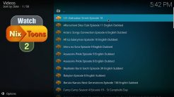 WatchNixtoons2 Kodi Addon All Latest Releases Section