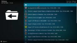 Tide Kodi Addon list of live sport