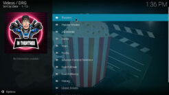 DRG Kodi Addon Movie World Section
