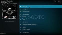 GOTO Kodi Addon TV Scrapers Section