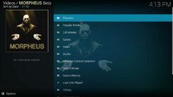 Morpheus Kodi Addon Movies Section