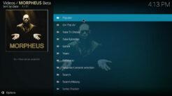 Morpheus Kodi Addon TV Shows Section