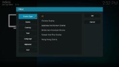 Duboku Kodi Addon Filters for TV Shows