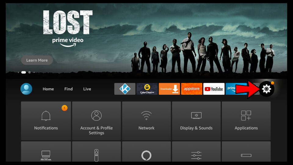 How to open up Fire TV settings