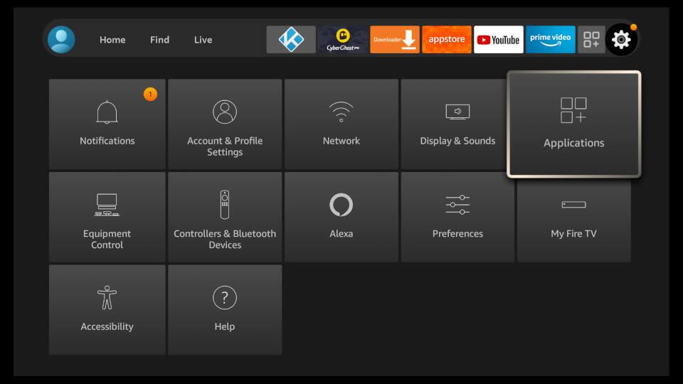 Fire TV Settings - Amazon Appstore Settings 1