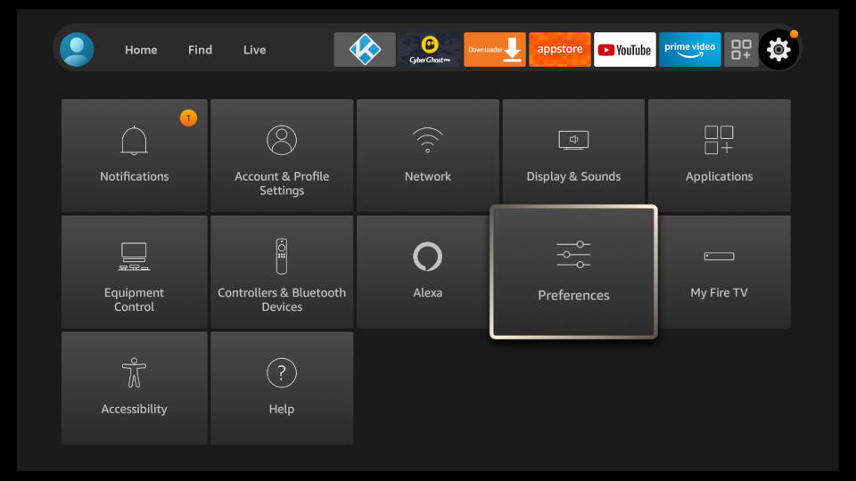 Fire TV Settings - Privacy Settings and Disable Data Monitoring 1