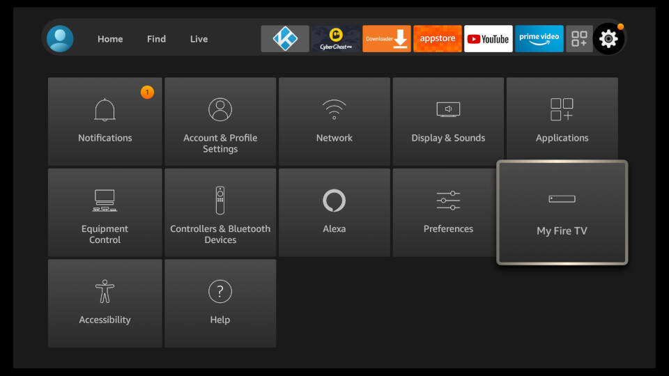 Fire TV Settings - Enable Apps from Unknown Sources 1