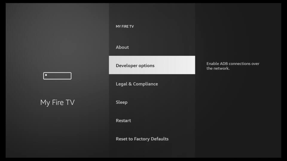 Fire TV Settings - Enable Apps from Unknown Sources 2