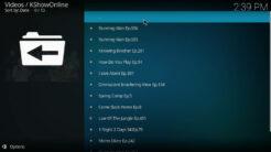 KShowOnline Kodi Addon Top Shows Today Section