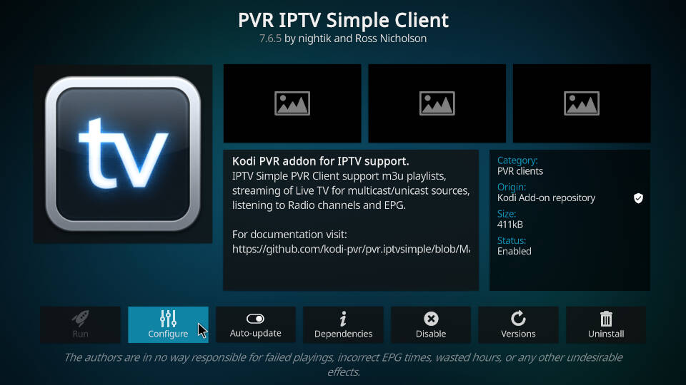 PVR IPTV Simple Client - How to Configure Channels and EPG - Step 1
