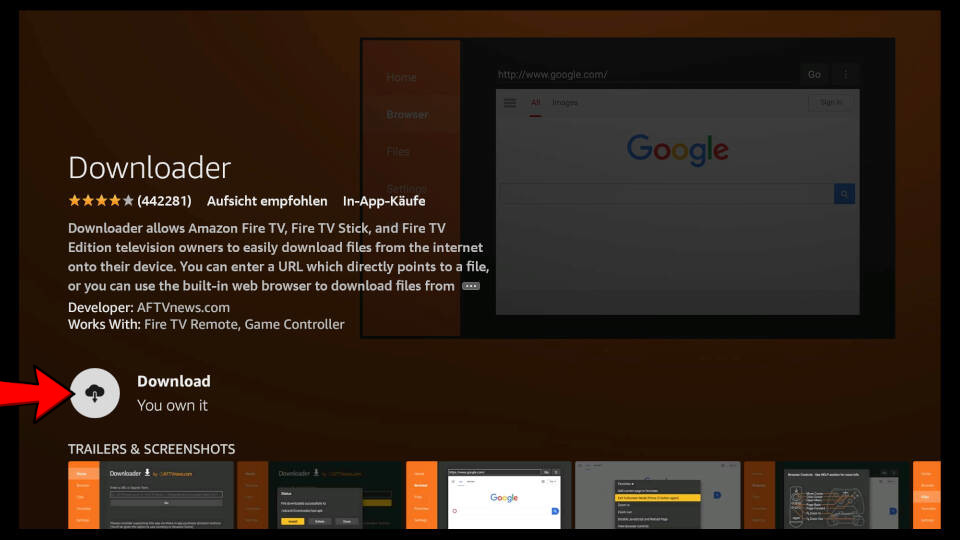 How to install Downloader App on Fire TV - Step 4