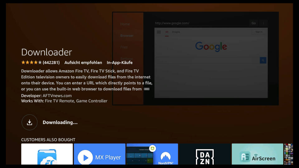 How to install Downloader App on Fire TV - Step 5