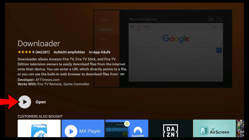 How to install Downloader App on Fire TV - Step 6