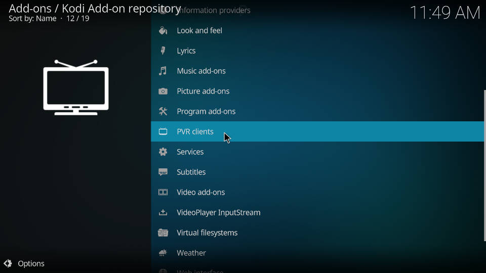 How to Install PVR IPTV Simple Client Kodi Addon - Step 5