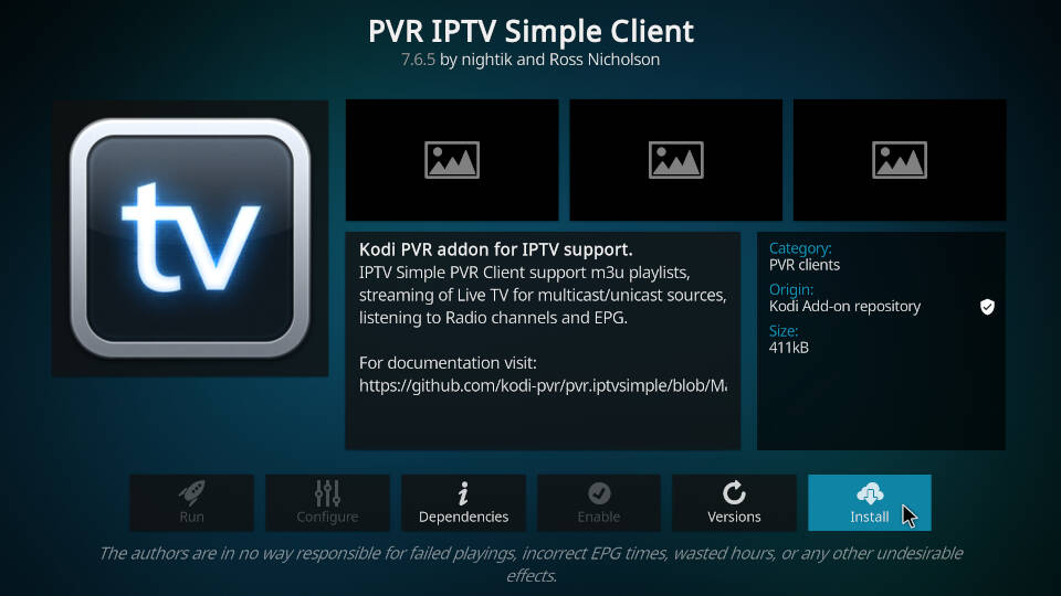 How to Install PVR IPTV Simple Client Kodi Addon - Step 7