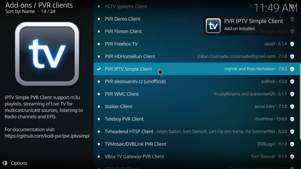 How to Install PVR IPTV Simple Client Kodi Addon - Step 9