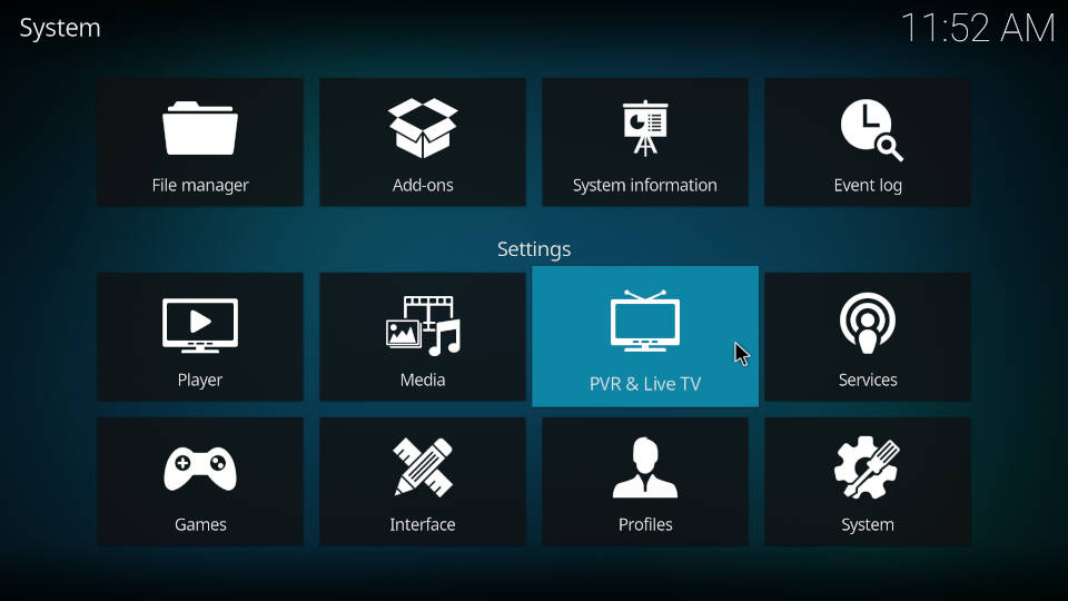 PVR IPTV Simple Client - Reload Channels and EPG - Step 2