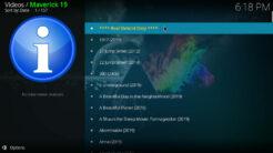 Maverick Kodi Addon 4K UHD Movies RD Section