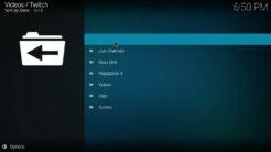 Twitch Kodi Addon Browse Section