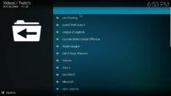 Twitch Kodi Addon Games Section