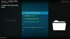 Rising Tides Kodi Addon Live PPV Events Section