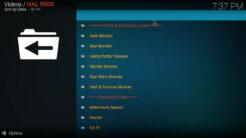 HAL 9000 Kodi Addon Movies Section