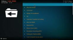 HAL 9000 Kodi Addon Documentaries Section