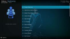 Nightwing Kodi Addon Movies Section
