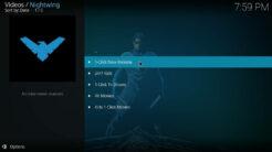 Nightwing Kodi Addon 1-Click Zone Section