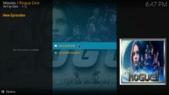 Rogue One Kodi Addon TV Shows Section