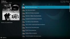 UK Turk Playlists Kodi Addon Documentaries Section